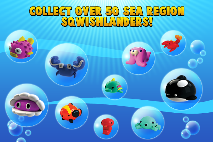 Over 50 SqwishLanders to add to your Sea Collection!