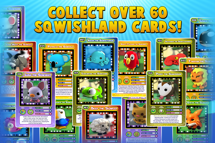 Over 60 cards to collect and trade!
